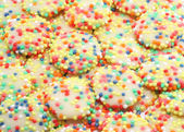Rainbow White Chocolate Drops — Stock Photo