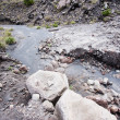 Stiff lava stream on side of Sakurajima in Japan — Stock Photo