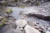 Stiff lava stream on side of Sakurajima in Japan — Stock Photo