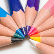 Rainbow of colorful pencil set with 10 colors — Stock Photo #43384899