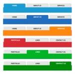 Web menu header set. Vector. — Stock Vector