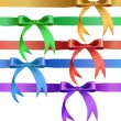 Decorative bow in various colors — Stock Vector
