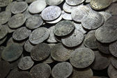 Antique silver coins — Stock Photo