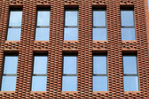 Window of new office and apartment building — Stock Photo