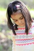 Ritratto di ragazza carina in primavera — Foto Stock