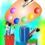 Art supplies — Stock Vector