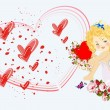 Romantic cupid — Stock Vector #18915381