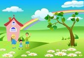 Happy family, — Stock Vector