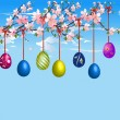 Stock Vector: Easter composition,