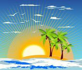 Exotic island — Stock Vector