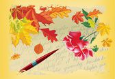 Autumn letter, — Vector de stock