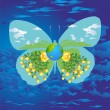 Spring butterfly, — Stock Vector