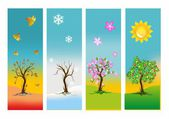 The four seasons, — Stock Vector