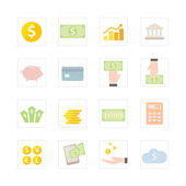 Finance and Banking icon set. — Stock Vector