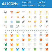 64 Quality design modern vector illustration icons set — Stock Vector
