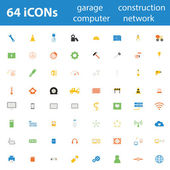 64 Quality design modern vector illustration icons set. — Stock Vector