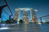 Marina Bay Sands at night. — Stock Photo