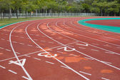 Empty running track — Stock Photo