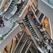 Escalators inside shopping mall — Stock Photo