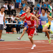 Chinese running competition — Stock Photo