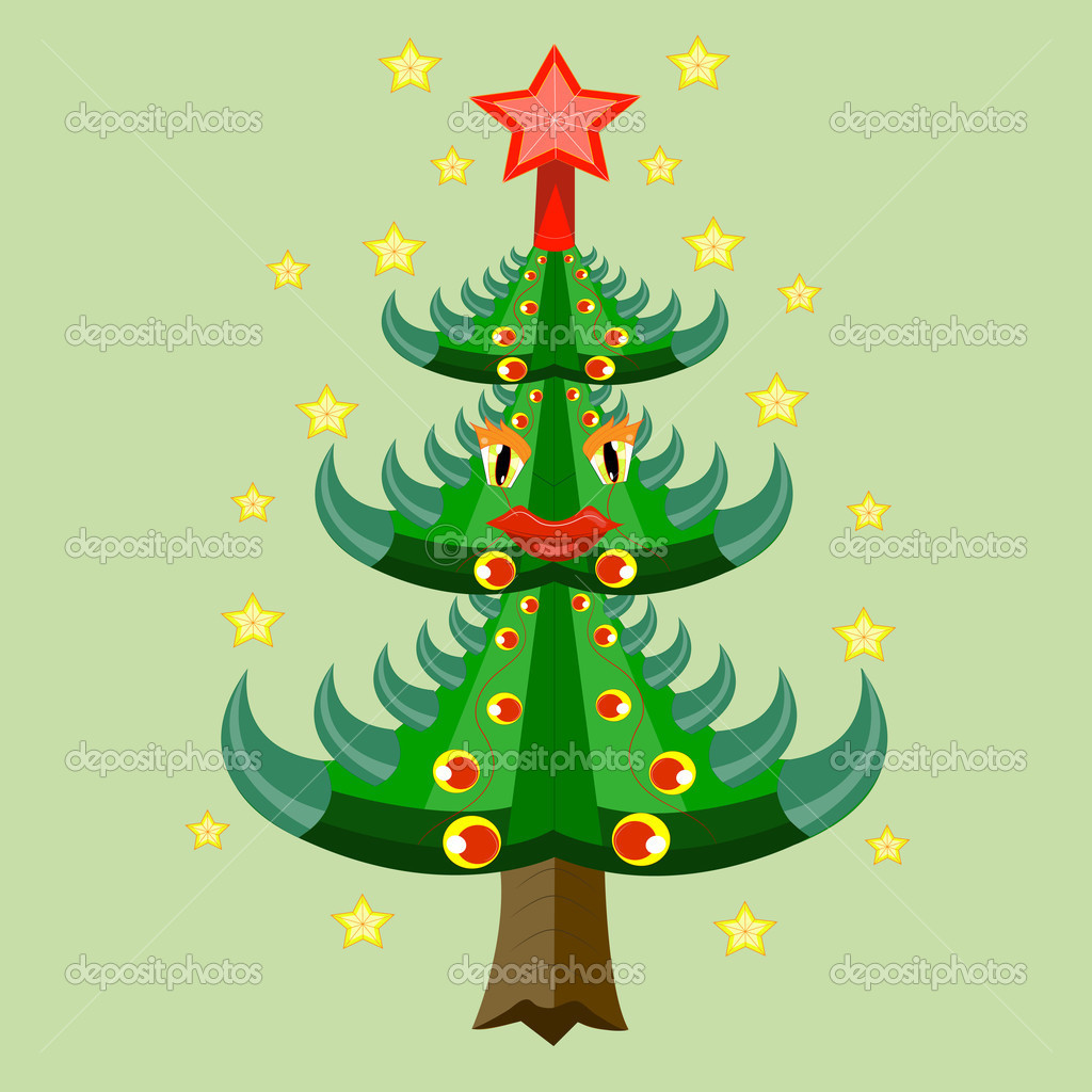 The decorated Christmas tree. — Stock Vector #12068712