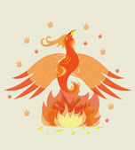 Birth of a young phoenix. — Stock Vector