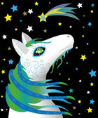 Koně oracle — Stock vektor