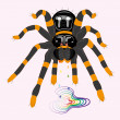Poisonous spider tarantula. — Stockvectorbeeld