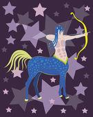 Constellation of a Sagittarius. — Stockvector