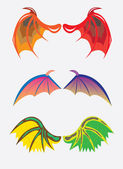 Wings of dragons — Stock Vector