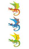 Little magic dragons — Stock Vector