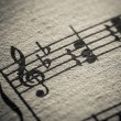 Musica classica, macro spartiti - Stock Photo