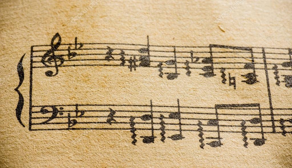M sica cl ssica m sica de folha de macro fotografias de for Musica classica