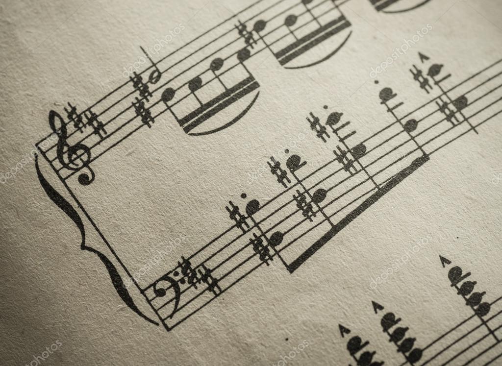 Spartito di musica classica vintage stock photo flaz81 for Musica classica