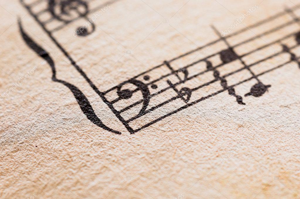 Spartito di musica classica vintage foto stock 12620190 for Musica classica