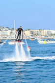 The Flyboard it's basically a water jet powered board which universally connects to all Jet-Skis of all brands on the market and allows underwater propulsion and fli — Stockfoto
