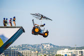 Dia voador do red bull flugtag — Foto Stock