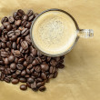 Coffee whith coffee beans — Stock Photo #12781524