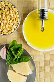 Pesto sauce ingredients — Stock Photo
