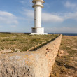 Cap de Barbaria Lighthouse - Stock Photo