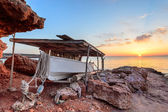 Formentera sunset — Stockfoto