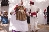 Folklore dance typical Ibiza Spain — Stock Photo
