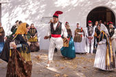 Folklore dance typical Ibiza Spain — Stockfoto