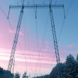 Stock Photo: Power poles