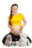 She is pregnant, — Stock Photo