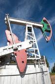 Olejové čerpadlo jack v provozu — Stock fotografie