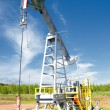 Stock Photo: Oil pump jack in operation