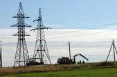 Power poles — Stock Photo
