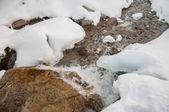Nehir üzerinde buz — Stok fotoğraf