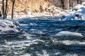 River ice. river in winter — Foto Stock